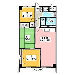 泉ヶ丘ハイツII[2階]の間取り