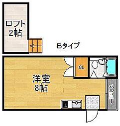 フォンタルT2[1階]の間取り