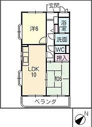 コンフォールKATO[1階]の間取り