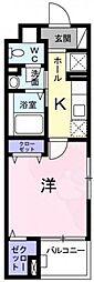 Osaka Metro千日前線 日本橋駅 徒歩10分の賃貸マンション 2階1Kの間取り