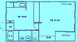 コーポサンライフI[2階]の間取り