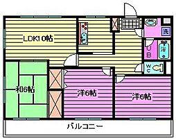 ロイヤル山正マンション[2階]の間取り