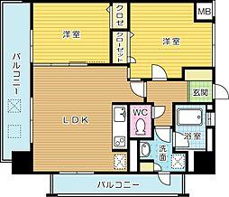 ルネッサンス21小倉東(分譲賃貸)[2階]の間取り