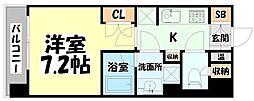 JR仙石線 榴ヶ岡駅 徒歩3分の賃貸マンション 6階1Kの間取り
