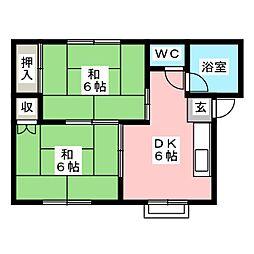 ファミーユ沼田[1階]の間取り