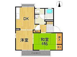 甲陽パンションA棟[2階]の間取り