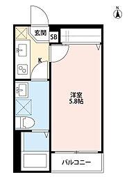 ミライオ板橋(ミライオイタバシ)[102号室]の間取り