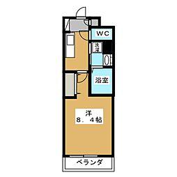 ベラジオ西陣聚楽II[3階]の間取り