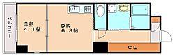 BLANK TOUR TAKAMIYA[2階]の間取り