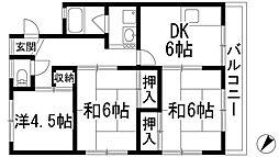 小西ビル[3階]の間取り