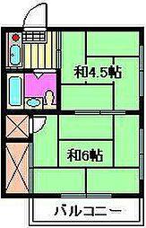 白石ハイツAB棟[2階]の間取り