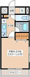 Aハウス梅丘[3階]の間取り