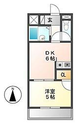 GARDEN BUILD城下(ガーデンビル)[5階]の間取り