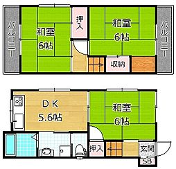 [一戸建] 大阪府枚方市堂山3丁目 の賃貸【/】の間取り