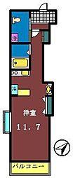 ダイワティアラ津田沼3[201号室]の間取り