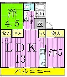 宝マンション[4階]の間取り