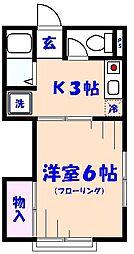 コーポ竹内[2階]の間取り