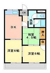 リバティーKAZU[2階]の間取り