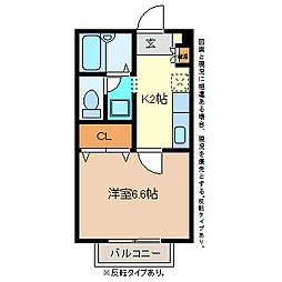 YUハイツ[2階]の間取り