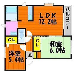 Mimasuコーポ[2階]の間取り