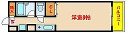 クロスロードハイツ山崎[6階]の間取り