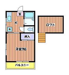 コーポ93[2階]の間取り
