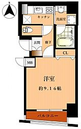 JR大阪環状線 桃谷駅 徒歩8分の賃貸マンション 5階1Kの間取り