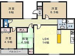 メゾンイグレク 3階4LDKの間取り