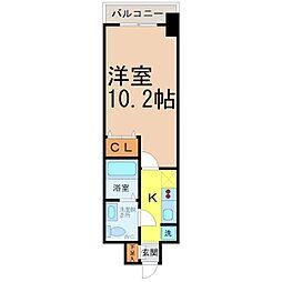 プライムアーバン栄 6階1Kの間取り
