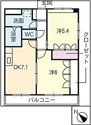 グランディールコート A棟[2階]の間取り