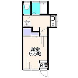 むさしハウス[1階]の間取り