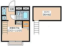 砧コーポ[2階]の間取り
