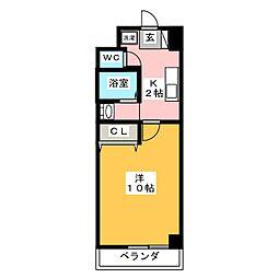 スクエア・ステージ[4階]の間取り