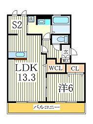 クレーストS[3階]の間取り