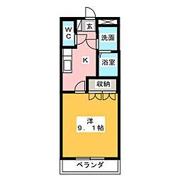 ラウムOkurugi[2階]の間取り