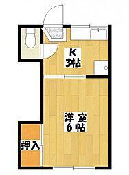 紅梅荘[1階]の間取り