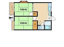 埼玉県富士見市水谷東2丁目の賃貸アパートの間取り