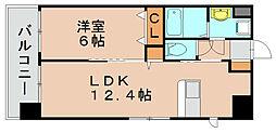 福岡県福岡市東区社領2丁目の賃貸マンションの間取り
