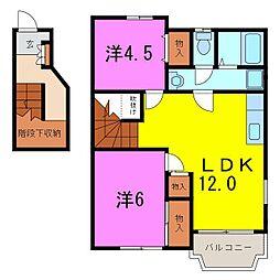 大府市 エリートメゾンOKA[2階]の間取り