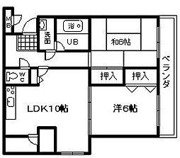 ASABAマンション[307号室]の間取り