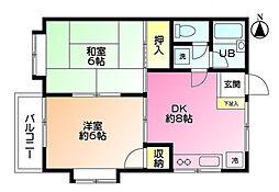 アンジュ1番館[2階]の間取り