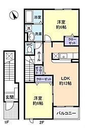 ADVANTAGE−B[2階]の間取り