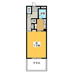 メルベーユ瑞雲[1階]の間取り
