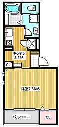 大阪府摂津市鳥飼和道2丁目の賃貸アパートの間取り