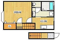 TKアパートメント[103号室号室]の間取り