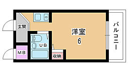 大阪府豊中市服部南町3丁目の賃貸マンションの間取り