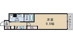 コンフォリア阿波座[2階]の間取り