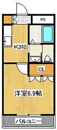 ファーストプレイス[3階]の間取り