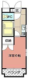 シャトレ松尾2[303号室]の間取り