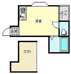 マーキュリー東住吉B棟[1階]の間取り